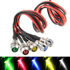 5X Car Boat 12V 8mm LED Indicator Light Pilot Dash Dashboard Panel Warning Lamp