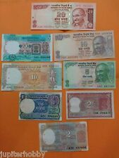 8 DIFFERENT Notes - India Bank Notes - UNC - #ca02- FREE SHIPPING