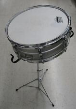 """Ludwig Rockers 14"""" Silver Snare Drum with Case and Stand"""