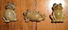 Travco Made In Hongkong Frog Refrigerator Magnet Set Of 3