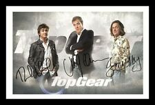TOP GEAR - CLARKSON & MAY & HAMMOND AUTOGRAPHED SIGNED & FRAMED PP POSTER PHOTO
