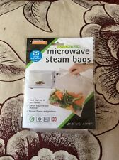 25,50,75,100 or 200 Quantity Microwave Steam Bags Healthy Cooking Size Large