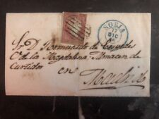 1855 Soria Spain Letter Cover To Madrid