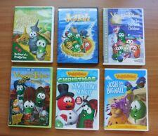 VEGGIETALES DVD LOT ~ 6 ~ LORD OF BEANS, AN EASTER CAROL, CHRISTMAS, JONAH, ETC