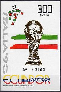ECUADOR / ITALIA 1990 WORLD CUP SOCCER S/S SC#1238 VF MNH FOOTBALL (D01)