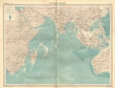 1920 ANTIQUE MAP- INDIAN OCEAN