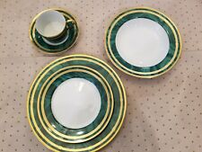 Christian Dior Gaudron Malachite 5-pc place setting Fine China NEW