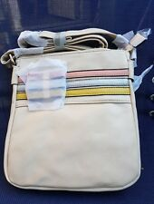 Pavers cream Faux Leather Messenger cross the body bag  Detail Adjustable St NEW