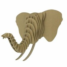 3D Jigsaw Puzzle - Trophy Head Elephant - Cardboard Educational Kids Activities