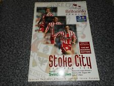STOKE CITY  v  SWINDON TOWN  1997/8  ~ AUG 30 *SPECIAL  - 1st GAME AT BRITANNIA*