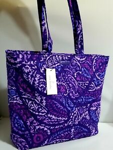 New VERA Bradley AMETHYST PAISLEY Essential Tote / shoulder shopper bag
