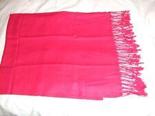 New Thai  RED Pashmina/shawl/wrap/scarf 100% Silk & Cashmere
