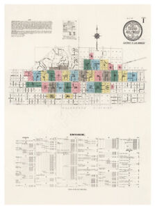 Hollywood 1913 Sanborn Fire Insurance Map, Exquisitely Detailed Map - Poster