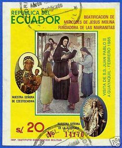 ECUADOR, BLOCK N° 114 (MICHEL CAT.), USED, MERCEDES DE JESUS MOLINA