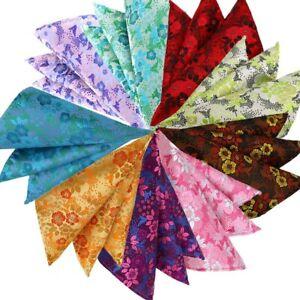 Mens Pocket Square 25CM Handkerchief Floral Hanky Men Suit Jacquard Chest Towel