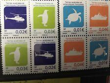 TAAF : 2 Séries de 4 timbres série courante 2016