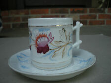 Vintage Lefton   Red Flower Cup and Saucer  02147/3