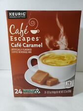 New listing Café Escapes Keurig K-Cup Portion Coffee Pods, Carmel - 24 count