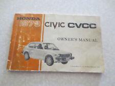 1979 Honda Civic car owner's manual
