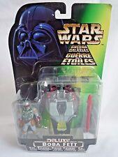 Star wars el poder de la fuerza de lujo Boba Fett Con Ala Blast conjunto cohete