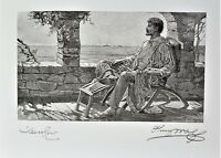 HENRY WOLF & WILL H. LOW Pencil HAND SIGNED (both Artists) ORIGINAL Engraving