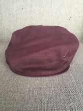 Vtg Nike Cabbie Newsboy Cap Hat Burgundy Medium 90's M Poorboy Golf 100% Cotton