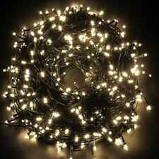 Battery Powered 100 LED Fairy Lights Warm White Outdoor Timer Christmas Party