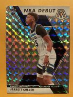 2019-20 Panini Mosaic Jarrett Culver NBA Debut Silver Prizms SP Rookie Card #263