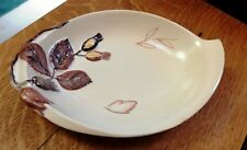 Vintage Carlton Ware Hand painted Australian Design Brown Floral Fancy Bowl