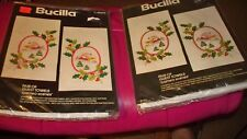 "(New) Bucilla Embroidery Kit #48655 - Pair Of Guest Towels ""Cameo Scenes"""