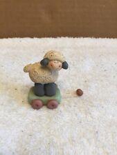 Lamb/Sheep On Cart/Wagon Figurine
