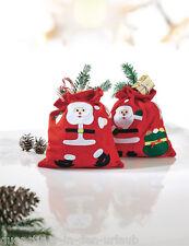 2 x Nikolausbeutel Weihnachtsbeutel Geschenkbeutel Weihnachten Verpackung Filz