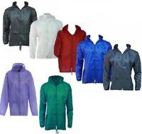 Lightweight Raincoat Mac Kagool Cagoule Waterproof Hooded Anorak S M L XL 5XL