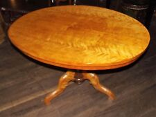 Tisch, Esstisch, oval, goldgelb, Birke, 1860
