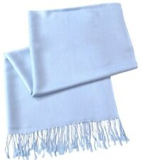 Baby Blue Solid Colour Design Shawl Pashmina Scarf Wrap Stole CJ Apparel **NEW**
