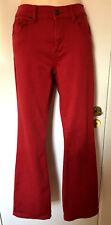 QVC DG2 Diane Gilman rouge bootcut stretch Mid Rise Jeans Sz. 12 Bnwt