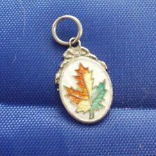 Maple Leaf Charm Vintage Sterling Silver Enamel