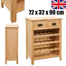 Montreal Oak Wine Cabinet Rack Rustic Solid Wood Wine Storage Cabinet