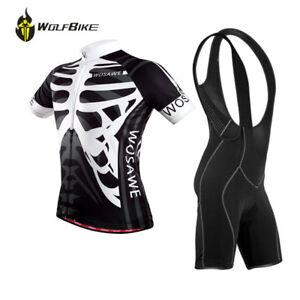 Mens Team Cycling Short Sleeves Jersey Bib Shorts Set 4D Pad Bike Wear Suits