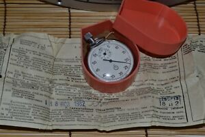 Mechanical Vintage stop watch AGAT USSR Russian Soviet ,native box