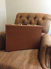 """Levenger Leather 5"""" Attache Briefcase Very Rare With Detachable Fan file Folio"""