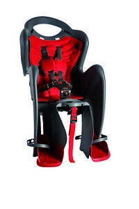 Mammacangura Rear Child Bike Seat Bicycle Carrier - Model Mr Fox - Black