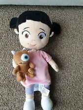 "Disneys Store Monsters Inc Boo & Little Mickey 13"" Plush Pink Dress"