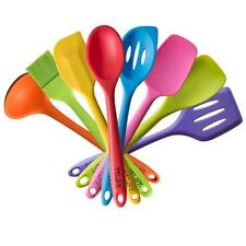 TTLIFE Silicone Spatula Kitchen Utensils of 8 Pieces Colorful Cooking Utensils