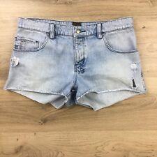 Ksubi Tsubi Women's Jean Shorts Cut Offs Distressed Size 28 Actual W31 (BM12)