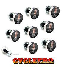 9 Pcs Billet Fairing Windshield Bolt Kit For Harley - TATTOO GIRL - 033