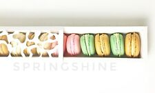 Cute White Boxes w/ Window | for Macaron/Cookie/Chocolate Party Gift | 6 cts