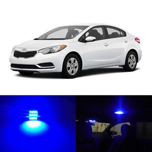6 x Blue LED Interior Bulbs Light Package For 2009-2017 Kia Forte
