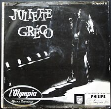 JULIETTE GRECO Olympia Original 1er pressage 1955 RARE 25CM PHILIPS N 76.047 R