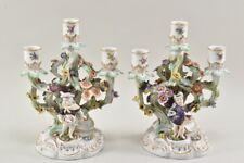 f65c08- Paar Prunkvolle Dresden Porzellan Kerzenleuchter Helena Wolfsohn